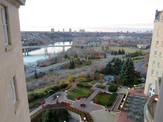 Edmonton view from Fairmont Hotel Macdonald