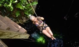 Rappelling Cenote Maya Riviera Maya
