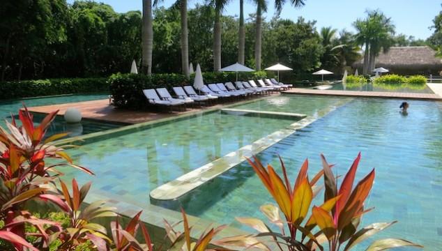 Zen pool Grand Velas Riviera Maya food romance