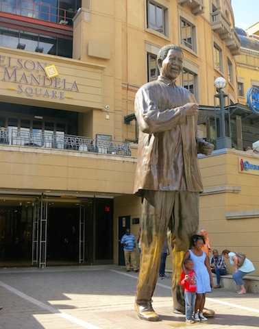 One day in Johannesburg, South Africa, Nelson Mandela Square