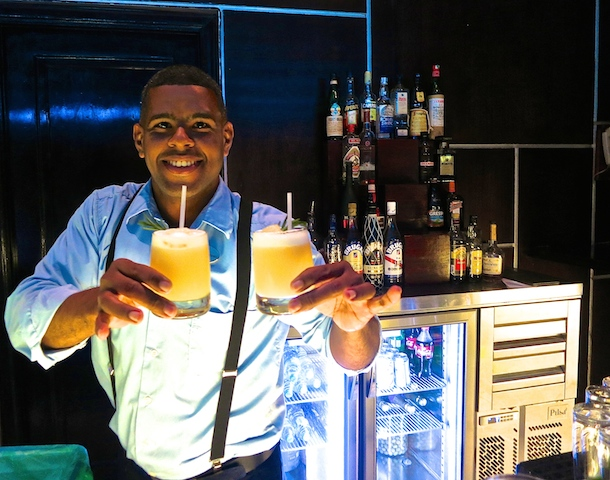 Bartender at Paradisus Palma Real in Punta Cana, a luxury tropical island resort