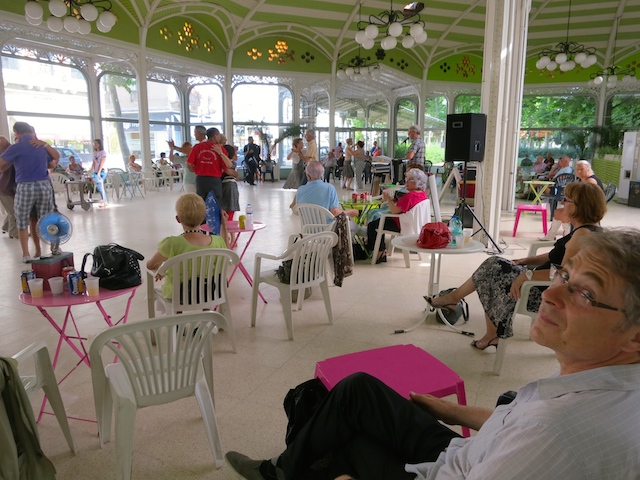 Dance at Halls des Sources, Vichy, France, a French spa town