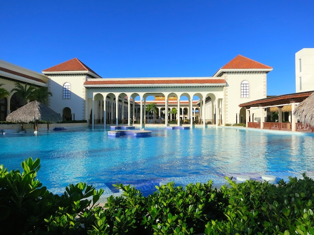Pool at Paradisus Palma Real, a tropical luxury resort in Punta Cana