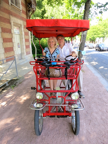Vichy, France, travel guide, canopy bicycle