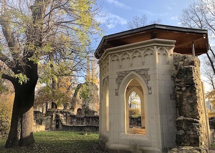 Romantic ruins at Margaret Island Budapest