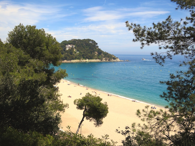 Costa Brava beach One day in Lloret de Mar Spain