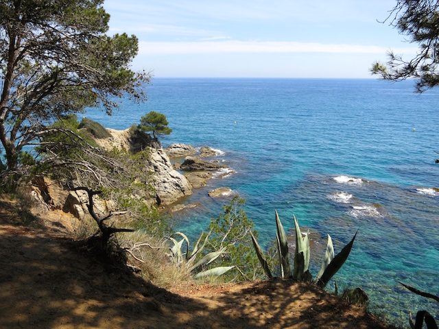 Costa Brava view one day in Lloret de Mar Spain