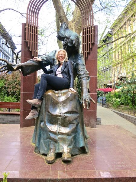Franz Liszt in Budapest Liszt sculpture with WanderingCarol.com