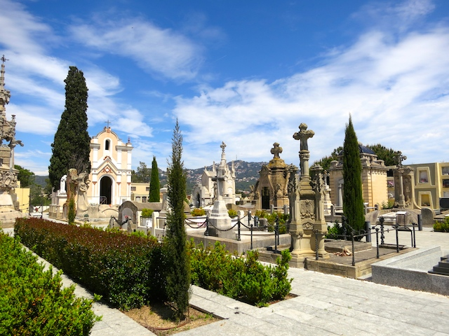 Lloret de Mar cemetery, Costa Brava, Spain