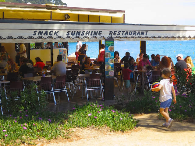 Snack Sunshine Restaurant One day in Lloret de Mar Costa Brava Spain