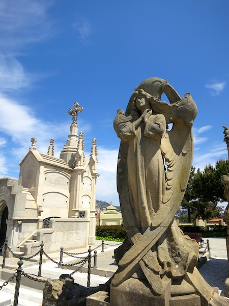 Tombstone tourism in Lloret de Mar, Costa Brava Spain