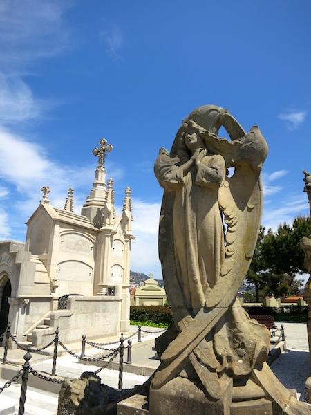 Tombstone tourism in Lloret de Mar, Costa Brava Spain