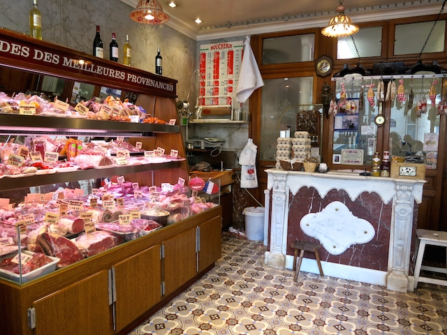 Butcher shop in Paris