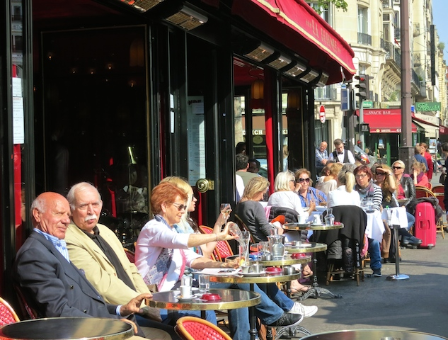 Cafe culture in Montparnasse, Paris