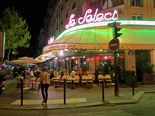 Historic Montparnasse cafes in Paris, Cafe Le Select
