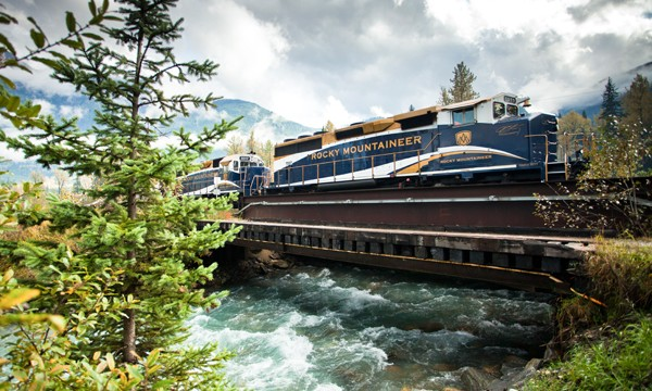 Nice mountain landscape Rocky Mountaineer routes