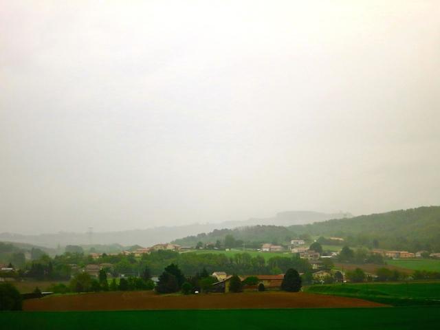 Paris to Barcelona train TGV France scenery