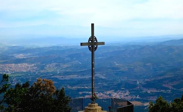 Cross of St Michael, Montserrat Muontain, Spain