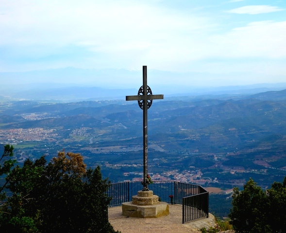 Cross of St Michael, Montserrat Mountain, Spain