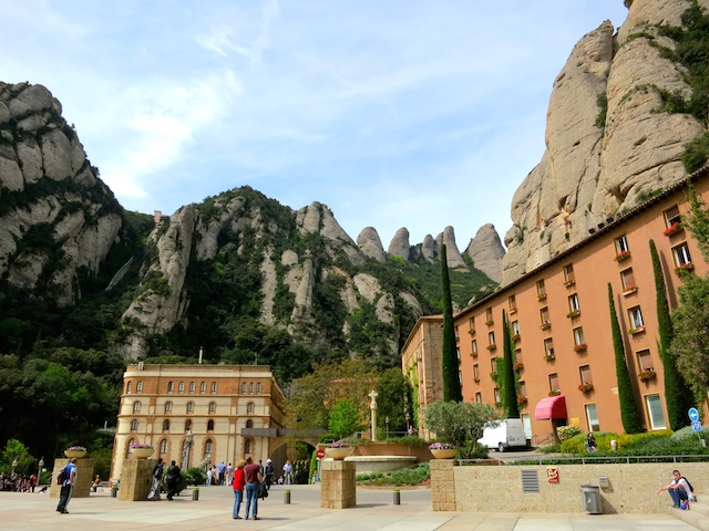 Montserrat Mountain, Montserrat Monastery in Spain