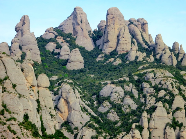 Montserrat Mountain, Spain, Fingers of God