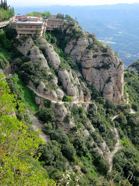 The Monastery of Montserrat on Montserrat Mountain near Barcelona