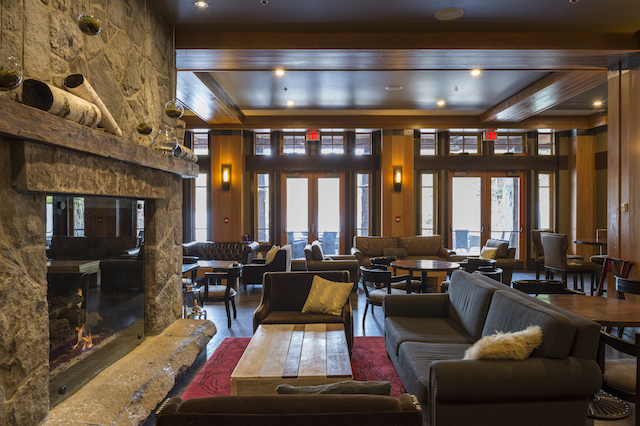 Nita Lake Lodge in Whistler Creekside review Cure Fireplace