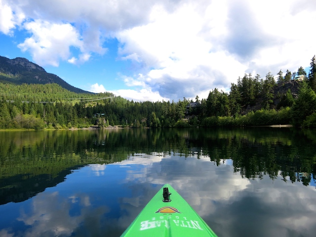 Nita Lake Lodge in Whistler Creekside review, kayak