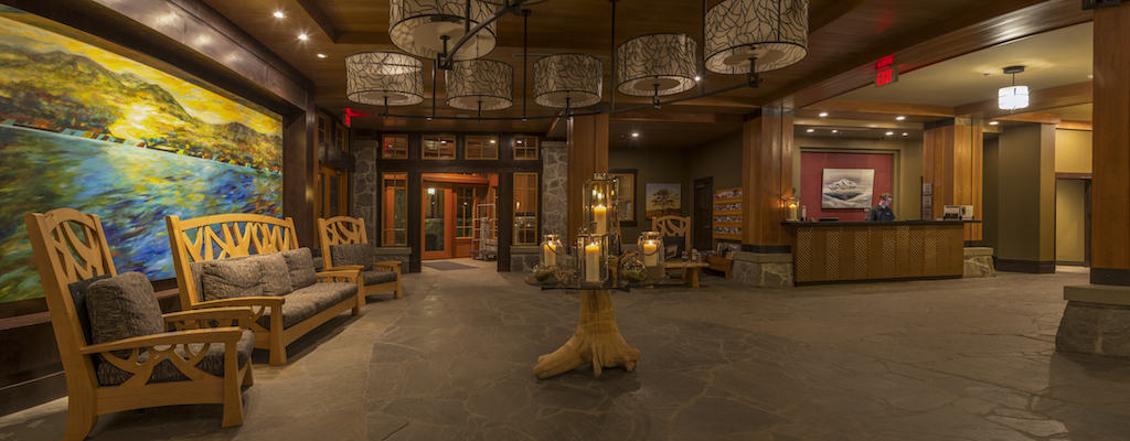 Nita Lake Lodge in Whistler Creekside review, lobby