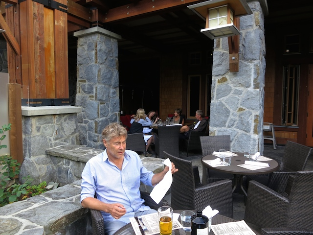 Nita Lake Lodge in Whistler Creekside review patio and beer