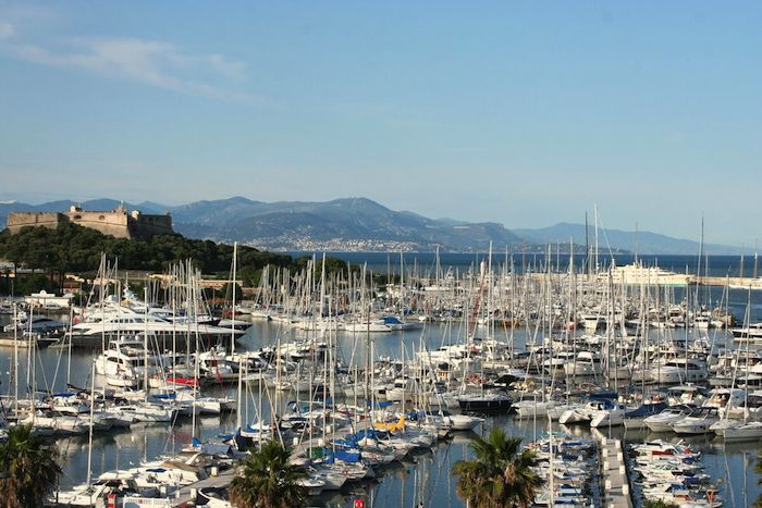 One day in Antibes, yachts, Port Vauban