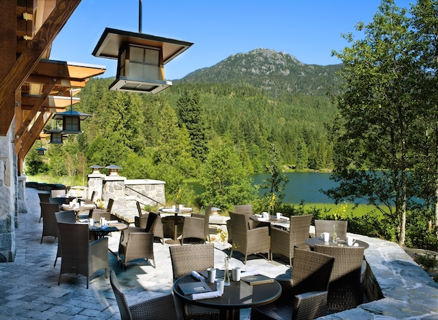Patio, Nita Lake Lodge in Whistler Creekside blog review
