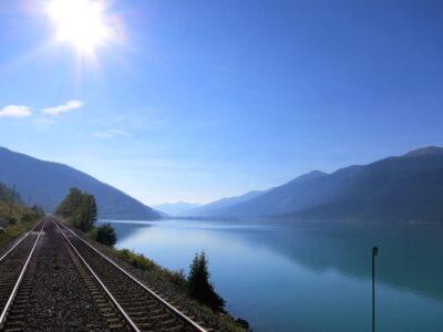 Romantic train ride, Rainforest to Goldrush route, beautiful landscape