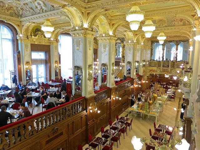 How I afford luxury travel New York Cafe Boscolo Budapest hotel