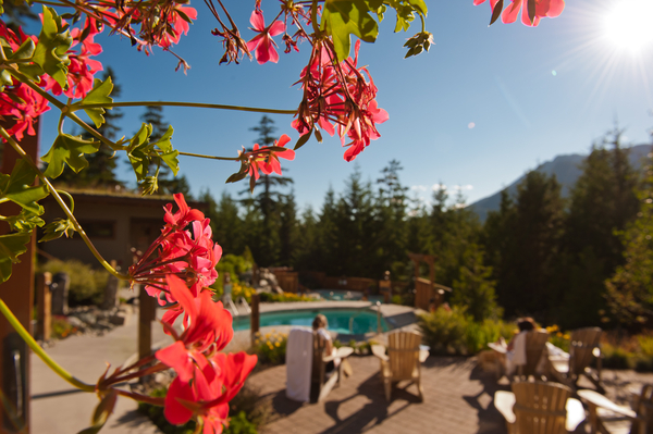 Scandinave Spa in Whistler fall scene