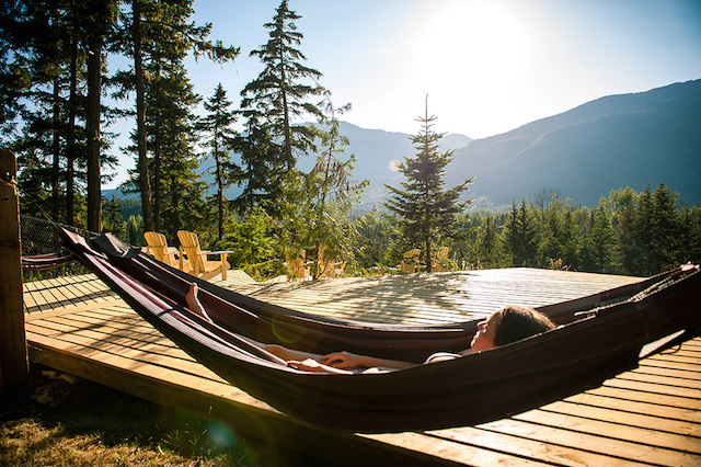 Scandinave Spa in Whistler reviews, hammocks
