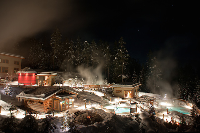 Scandinave spa in Whistler reviews, winter