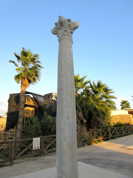 Caesarea in Israel, column