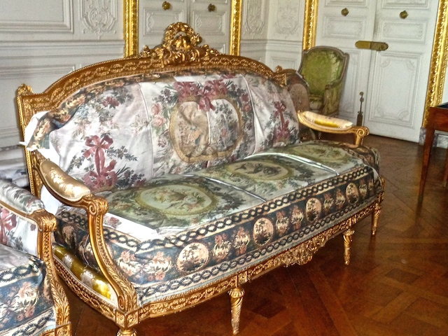 Visiting Versailles, private tour of the palace, newly aquired sofa