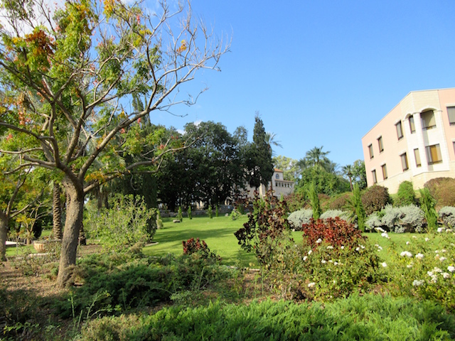 Visiting the Mount of Beatitudes, the grounds on a trip to the Holy Land