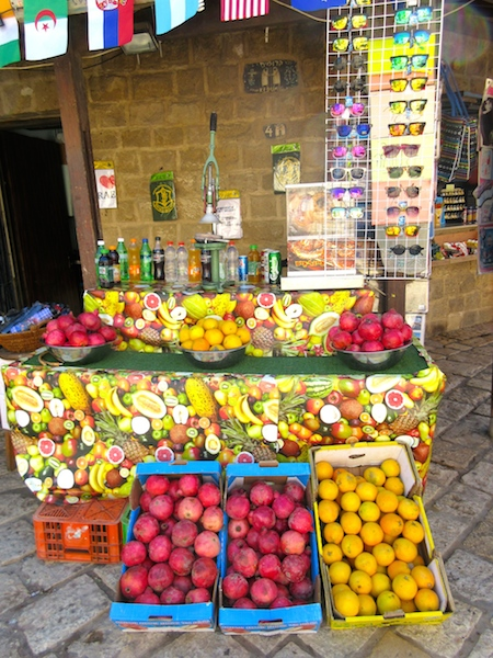 One day in Old Jaffa Tel Aviv, juice stand