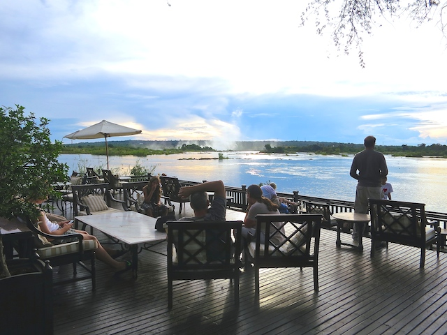Victoria Falls, Zambia, Royal Livingstone Hotel view