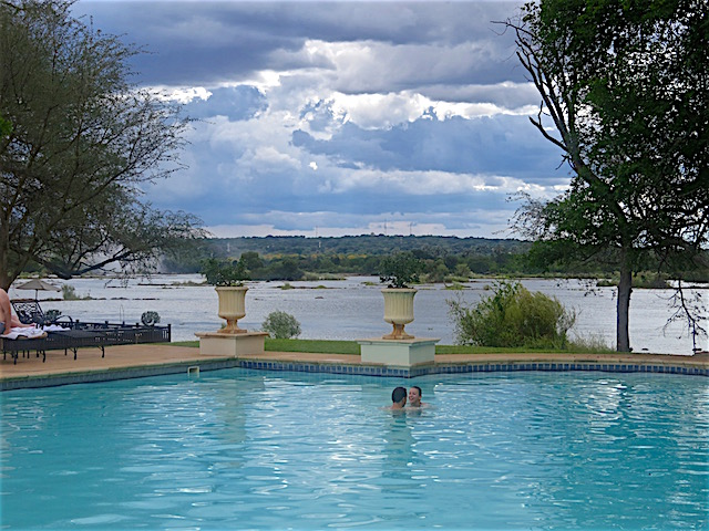 Best hotel Victoria Falls, Royal Livingstone pool
