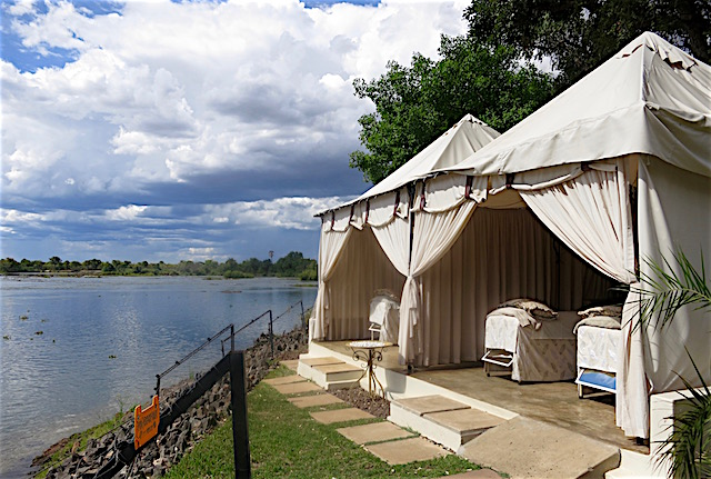 Best hotel in Victoria Falls, Royal Livingstone Hotel pictures, spa tent
