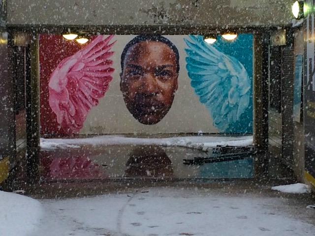 Visit Chicago, Mural by Jeff Zimmermann at Oak Beach