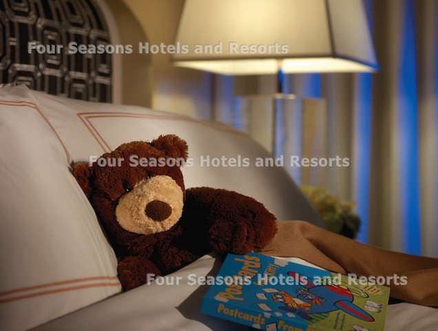 Four Seasons Chicago family friendly room with teddy bear