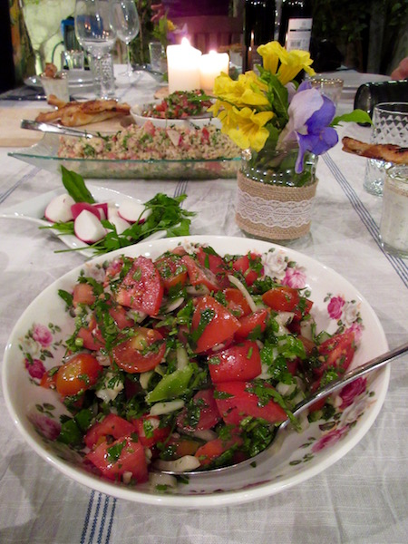 Delicious salads in Tel Aviv, Israel