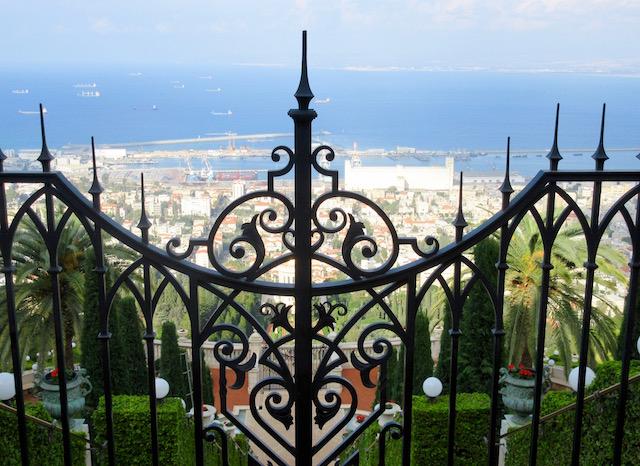 Haifa gardens on an Israel trip
