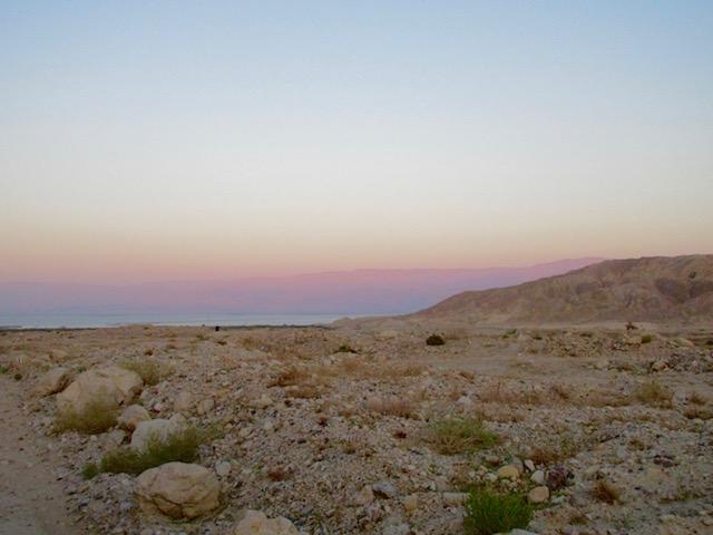 Judean Desert jeep tour view, Dead Sea at sunset