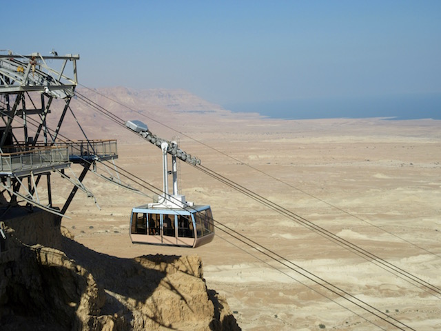 Cable car up Massada Israel
